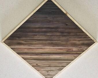 Diamond Gradient Reclaim Wood Wall Art