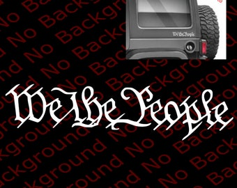 We the People US Constitution Patriotic Gun Rights Die Cut No Background Vinyl Decal Sticker for Car Window Fender Bumper Laptop Phone US018