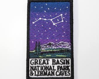 Official Great Basin National Park & Lehman Caves Souvenir Patch Nevada Scrapbooking FREE SHIPPING