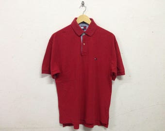 Vintage Red Polo Tommy Hilfiger