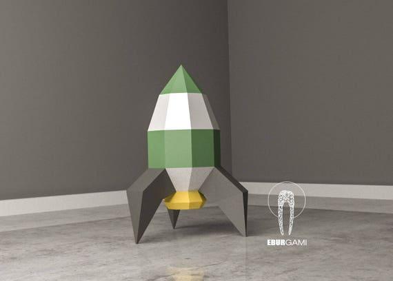 Rocket Papercraft 3D Paper Craft Rocket Rocket Ship Low