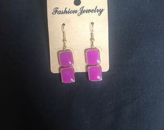 Small Double Square Earrings