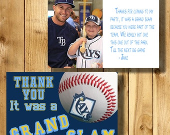 Tampa Bay Rays 4x6 Thank You Note Cards