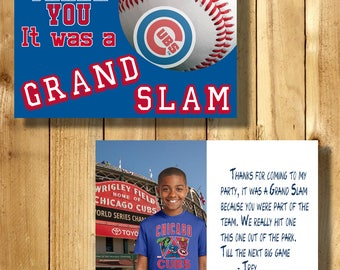 Chicago Cubs 4x6 Thank You Note Cards