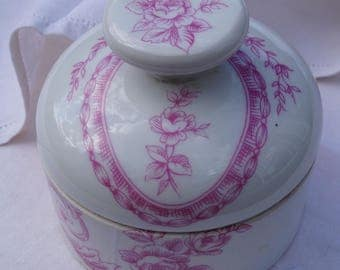 White porcelain of Paris, white, pink, candy box jewelry, bathroom, storage, decoration