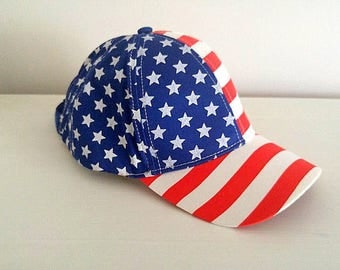 Stars n Stripes Ballcap 4th of July Hat Independence day