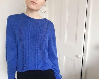 Vintage blue jumper