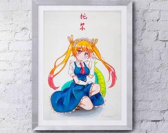 Tohru - Maid Dragon Inspired Print