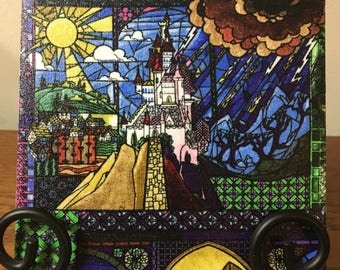 Beauty and the Beast Stained Glass Trivet