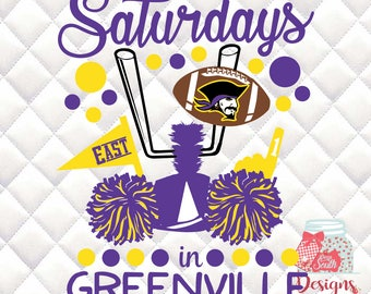 Saturdays in Greenville - East Carolina Pirates  - Tailgating, Gameday - SVG, Silhouette studio bundle - design download