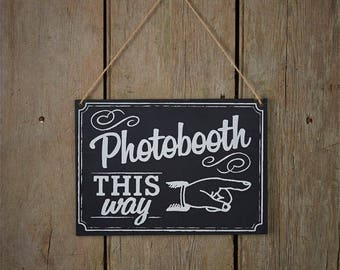 Vintage Chalk Board Photo Booth Sign