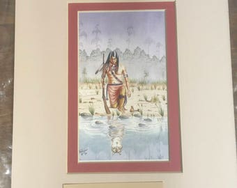 Samuel S Banagas Native American Water Color