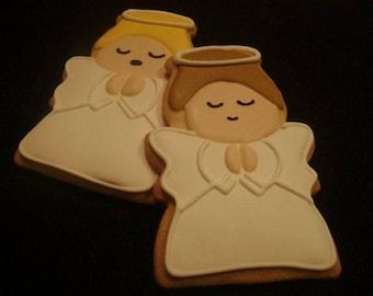 Angel Cookies | Custom Decorated Christmas cookies | Holiday Sugar Cookie