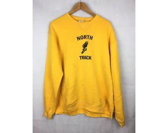 RUSSELL SPORTWEAR North Truck Long Sleeve Sweatshirt Large Size Sweatshirt Made in USA