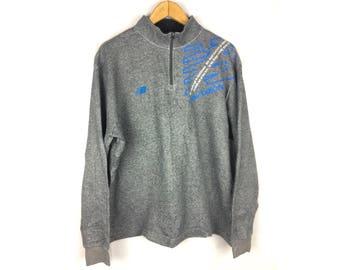 NEW BALANCE Long Sleeve Sweatshirt Neck Zipper LL Size