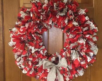 Fall/Autumn rag wreath