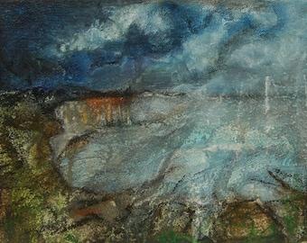Original painting 'Cliff sketch'