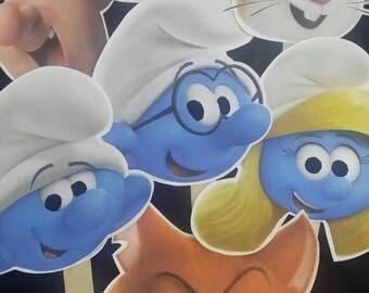 Smurfs Mask Face Prop