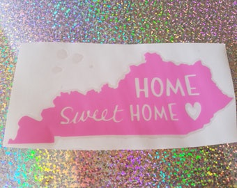 "Kentucky ""Home Sweet Home"" decal"