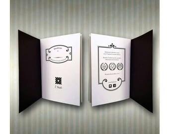 7 Classic Nodes notebook black A5 format
