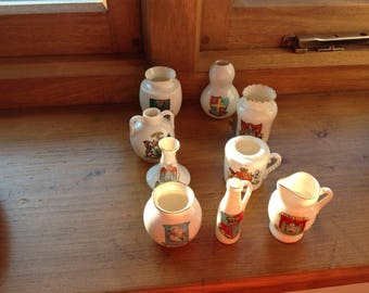 Collection of 8 Pieces of Crested Porcelain