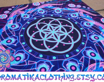 Top Bandana Headband Psychedelic Bandana Mens Banadana Womens Fashion Festival Clothing Bandanas For Adults Psytrance EDM Sacred Geometry