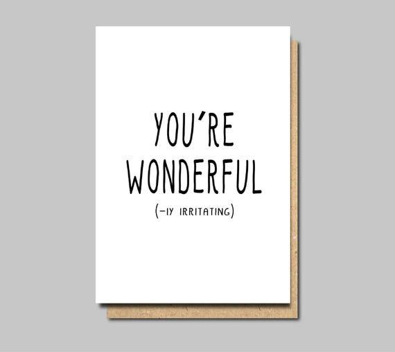 funny friend card friendship card friend birthday card – Funny Friend Birthday Card
