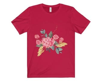 Flower Bouquet Design Unisex Jersey Short Sleeve Tee