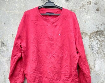 Vintage Tommy Hilfiger Red Sweatshirt