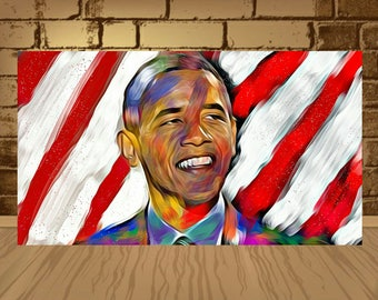 Barack Obama poster,Obama print,Obama art,President obama,Barack Obama,obama decor,Gift Idea,wall art,obama photo,print art,wotercolor art