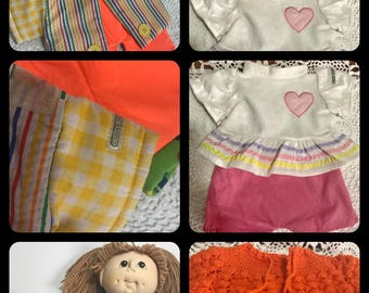 Vintage Cabbage Patch Doll Clothes Lot