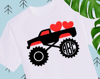 Boy Valentine SVG Valentine Truck Svg Valentines Day svg Valentine Shirts for Boys svg files for cricut silhouette truck svg monogram svg
