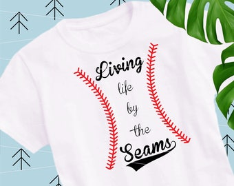 Baseball seams svg baseball svg living baseball svg baseball life svg softball svg files for Cricut Silhouette cut file svg dxf eps png lfvs