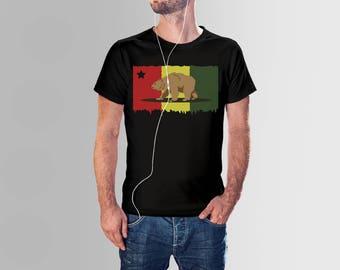 Bear Rasta, dreadlocks, Men Tshirt