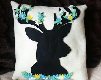Stag handmade cushion