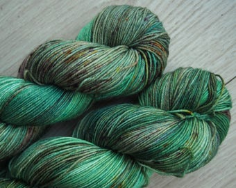Fern Glade Superwash Merino - hand dyed yarn