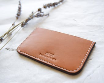 LEATHER CARD HOLDER - For men, Leather card case, Leather wallet, Leather card wallet, Leather business card holder - Genuine leather