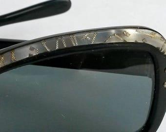 Vintage black plastic French Sunglasses
