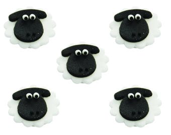 Edible Animal Sheep Farm Sugar Cake Topper Cupcake Decoration