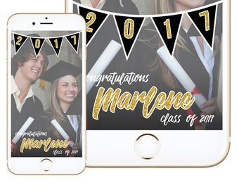 Graduation Geofilter, Graduation Party, Graduation Snapchat Filter, Class of 2017, Graduation Filter