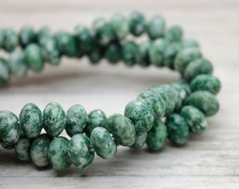 """Tree Agate Rondelle Gemstone Beads 8"""" strand (5mm x 8mm beads, 2.5 mm hole)"""