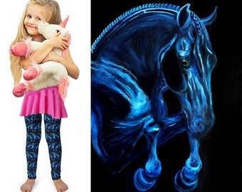 Kids leggings, kids tights, kids leggings, kids activewear, kids fashion, horse leggings, horse tights, horse fashion, horse art