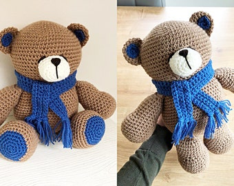 My Krissie Bear, Crocheted Teddy Bear Gift, Ready to Ship