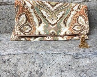 Damask Fabric Pochette