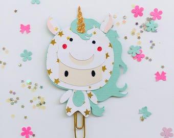 Chibi unicorn paper clip