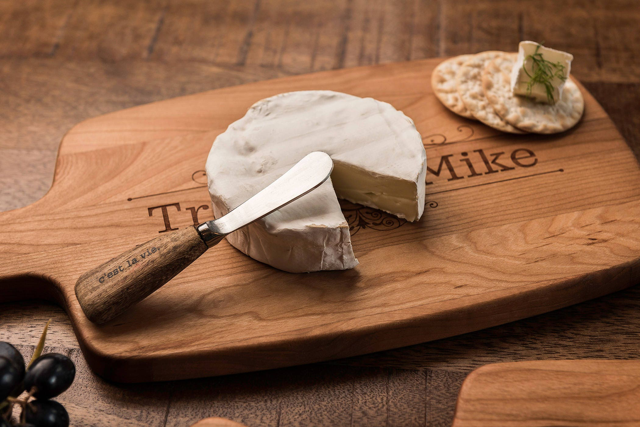 Forty Fifth Wedding Anniversary Gifts: Personalized Cheese Board, Charcuterie, Custom Engraved