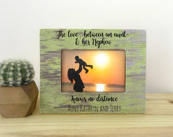 Long Distance Gift for Aunt Nephew Frame Aunt Frame Close The love between an Aunt and her Nephew Quote Long Distance Frame for aunt