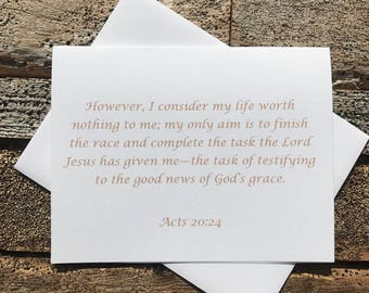 Acts 20:24 Bible Verse Note Card