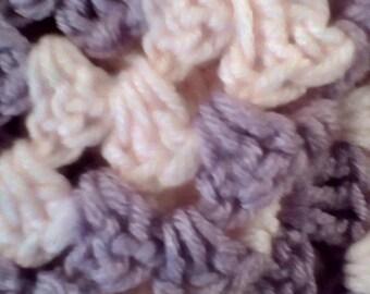 Handmade Crocheted Baby Blanket- Purple and Pink