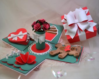 Valentine's Day Explosion Card DECORATIONS Cutting Project